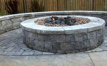 Irondequoit Landscape - Hardscaping/pave stone patio & fire pit - Rochester NY