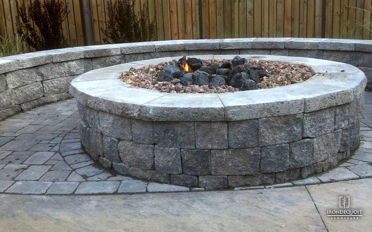 irondequoit landscape stone patio u0026 fire pit rochester ny - Hardscaping