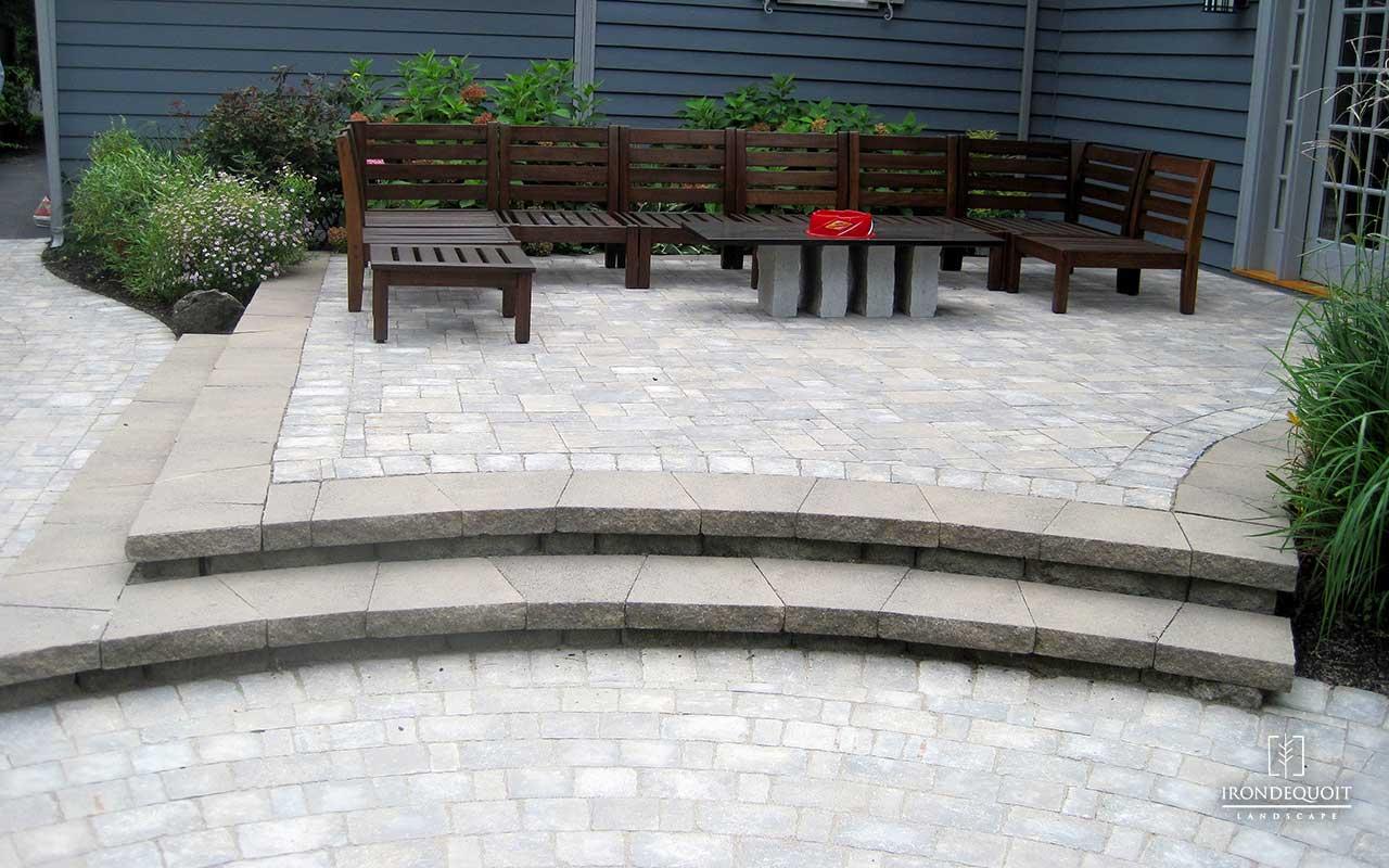 irondequoit landscape hardscaping paver stone stoop stone steps rochester ny - Hardscaping